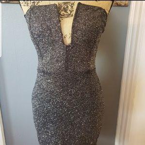 NWT FOREVER 21 GLITTER Sexy Little Black Dress